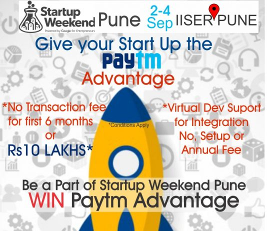 Startup Weekend Pune to be organised from September 2nd to 5th, 2016