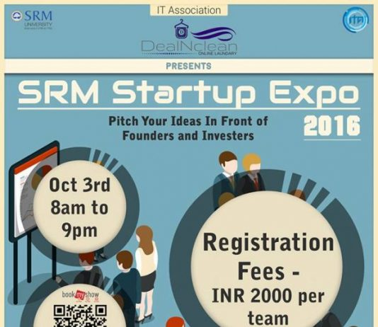 SRM Startup Expo 2016 - An Opportunity for Pitching Your Idea to Angel Investors