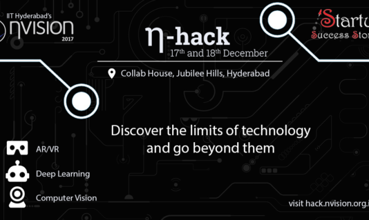 IIT Hyderabad to organise techfest 'η-hack' at Collab House on 17th and 18th of Dec, 2016