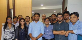 Team SpiderG with Ashwani Rathore, CEO & Co-Founder & Harshal Ingale, CTO & Co-Founder (3rd and 4th from left)