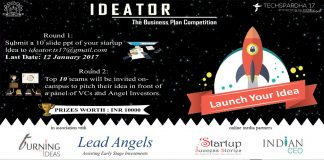 Techspardha, NIT KKR to Host Ideator : The B-plan Competition