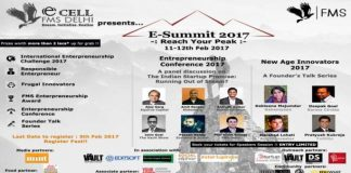 Entrepreneurship Cell, Faculty of Management Studies, University of Delhi to organise Entrepreneurship Summit 2017
