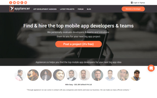 Applancer – A market place for app developers across globe