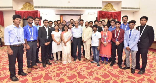 The Young Founders at IB Hubs Startup School Discusses their Ideas With Governor of Andhra Pradesh and Telangana