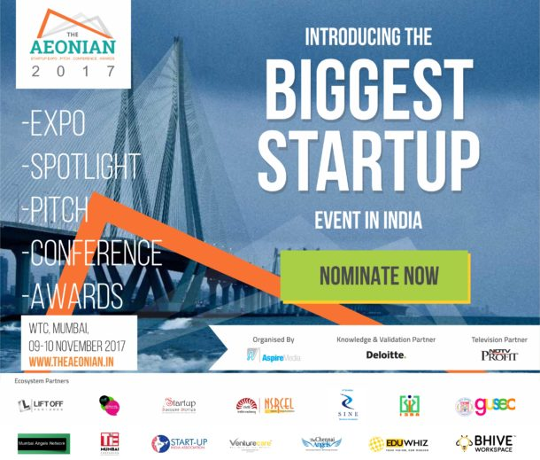 """Aspire Media to Organise """"The AEONIAN 2017"""" - An Annual Startup Summit on 9 – 10th  November 2017 at WTC, Mumbai"""