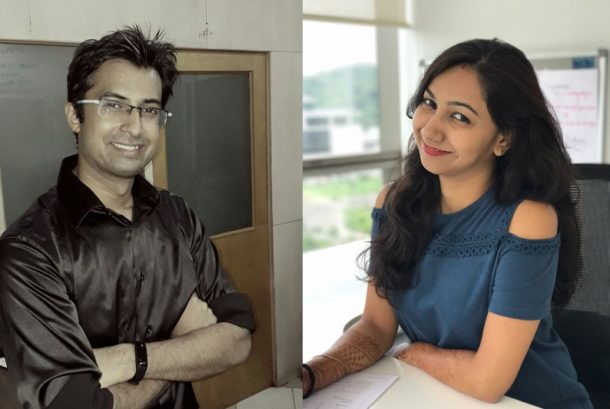 Rohit Singh (left) Ranjana Singh (right), Co-Founder of IIT Career