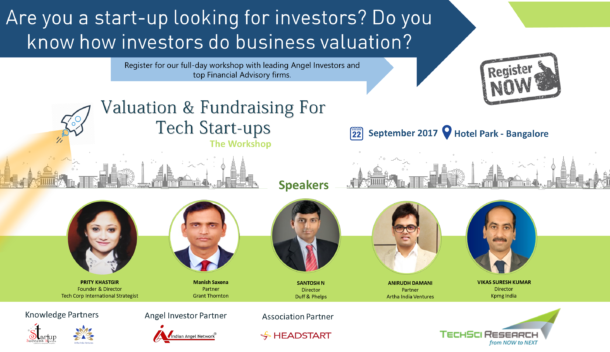 TechSci Events to Organise Valuation & Fundraising for Tech Start-ups on 22nd September 2017 at The Park, Bangalore