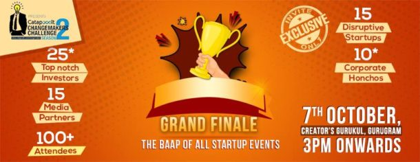 The Economic Times Catapooolt Changemakers Grand Finale is all set to roll on the 7th October, 2017