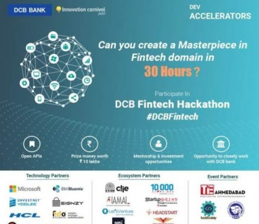 DCB Bank To Organize a Non Stop 30 Hours Fintech Hackathon in Association With Dev Accelerators in Six Cities