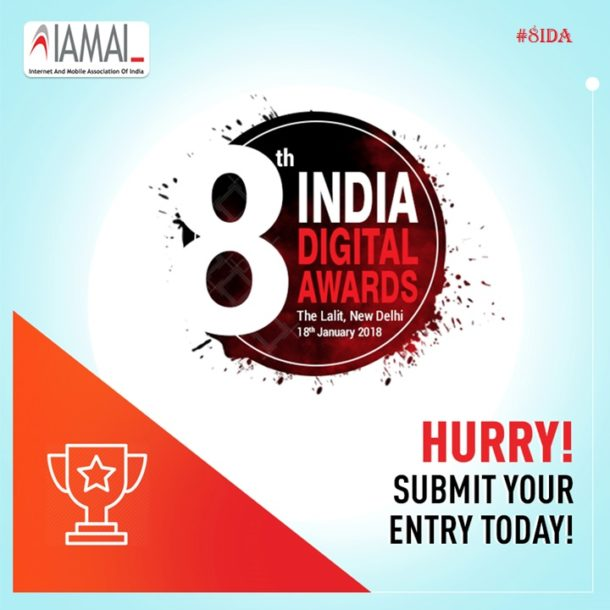 IAMAI to Organise 8th Edition of India Digital Awards on 17th Jan 2018