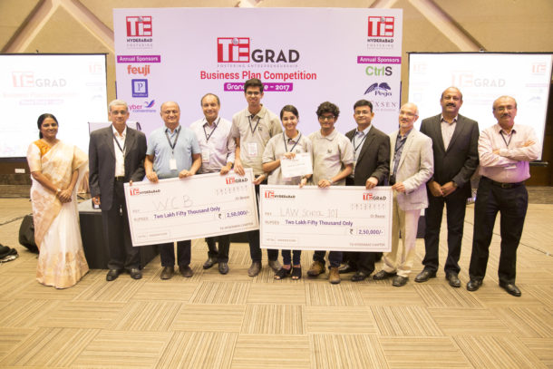 Law School 101 and WCB wins TiE Hyderabad's Inaugural TiE GRAD Business Competition