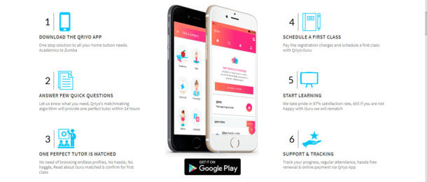 Qriyo App has evaluated over 15,000 tutors and has served 5000+ students
