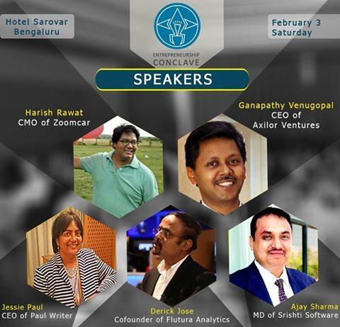 Speakers of Entrepreneurship Conclave