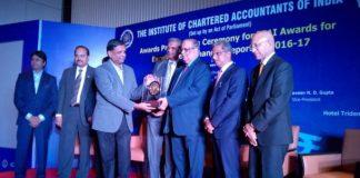 CFO of Akshaya Patra, Mr R Ganesh receives ICAI Gold Shield Award