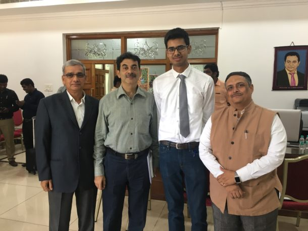 """""""Innovative hardware products must be developed at T-Works,"""" IT Minister Says after interacting with TiE Hyderabad team and Founder of WCB Robotics"""