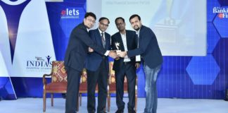 Mr. Utkarsh Gupta receiving the award
