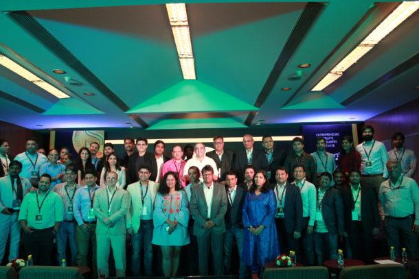Winners of SuperStartUps Asia Awards 2018 with Shivjeet Kullar