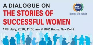 PHDCCI to Organise A Dialogue on the Stories of Successful Women on 17th July, 2018 in New Delhi