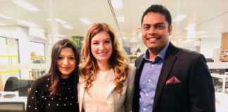 Sandy & Joel with Baroness Karren Brady