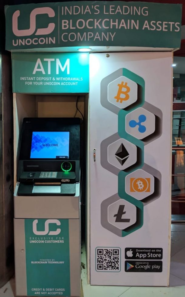 UNOCOIN, INDIA'S LEADING CRYPTO ASSET AND BLOCKCHAIN COMPANY INTRODUCES ITS FIRST PHYSICAL KIOSK
