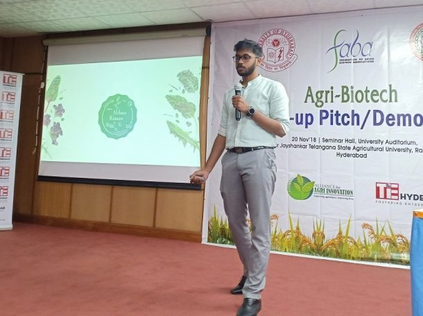 Third Best Best Award winning Startup Pitch of the Day, Founder of URBANKISAAN Hydrotech