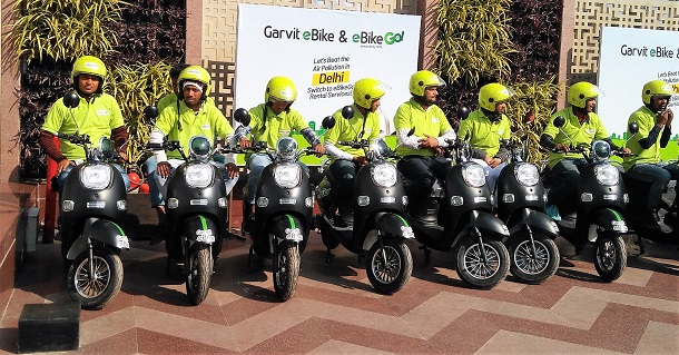 Bikers at the launch