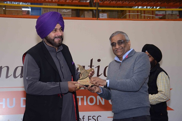 Mr. Kishore Biyani, Group CEO, Future Group With Navjot Singh Sidhu Punjab Minister of Local Government