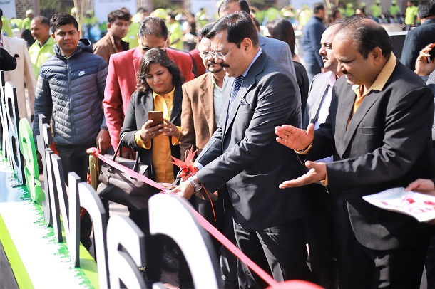 Mr. Sanjay Singh, Special CP, Delhi inaugurating Garvit eBike