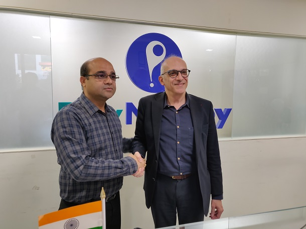 Mr. Anand Kumar Bajaj, Founder of PayNearby, and Yazid Chir President of Be-Bound