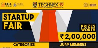 Startup Fair '19 – An Entrepreneurial Extravaganza on 8th – 10th March, 2019 to be Organized Under the Umbrella of Technex and E-Cell, IIT (BHU) Varanasi