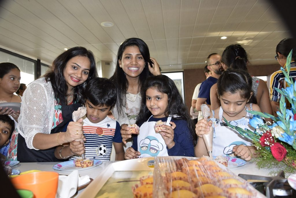 Chief of Impossible Chef Sushma Thota with little Chefs at TCL