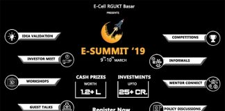 """RGUKT-Basar To Organise a Two Day Entrepreneurial Event """"E-Summit'19"""" on 9th & 10th March 2019"""