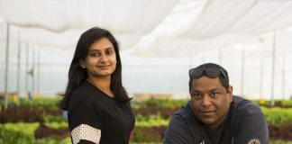 Red Otter Farms Founders Srishti Mandaar & Anubhav Das (from left to right)