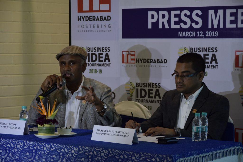 TiE Hyderabad - L-R - Suresh Reddy, President TiE Hyderabad and Subba Raju, TiE Hyd Board Member and Program Chair, TiE Grad