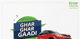 "Zoomcar chimes ""#GharGharGaadi"" - India's largest car subscription festival by ZAP Subscribe"