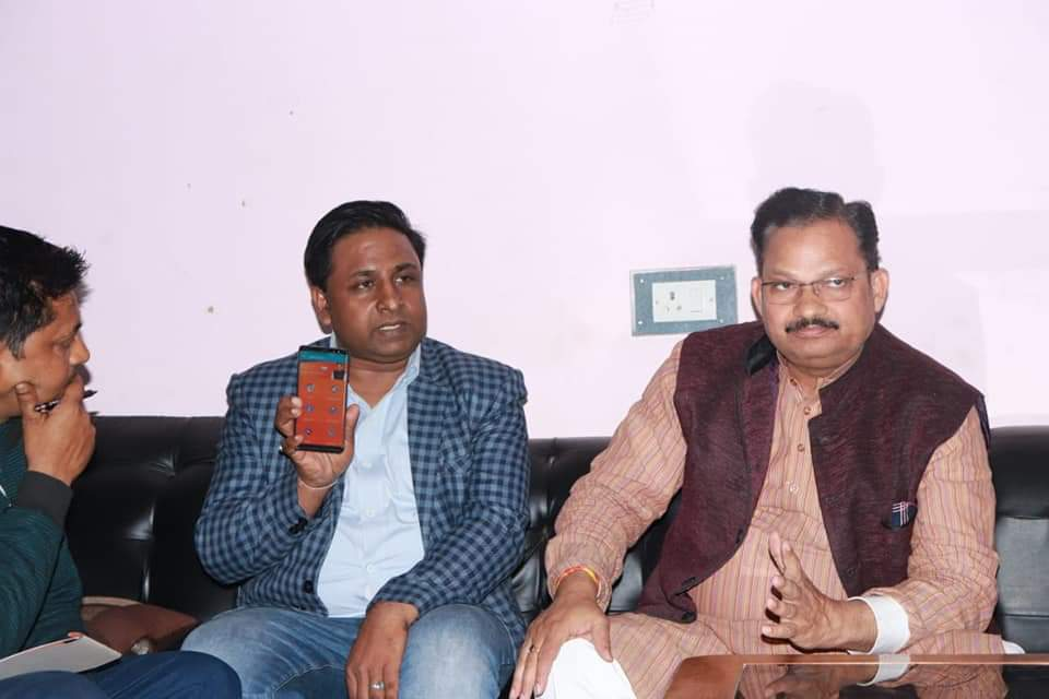 Ashish Kumar with Daddan Mishra, Member of Parliament, Shravasti (UP).