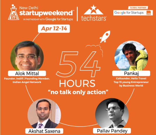 Judges - 'Techstars Startup Weekend Delhi' From 12 - 14th April 2019 at Supreme Cowork, Delhi