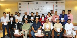 Dr. Unnat Pandit - Director, Niti Aayog Along With Prominent Dignitaries and Authors at the Book Launch of Growth Hacking Book