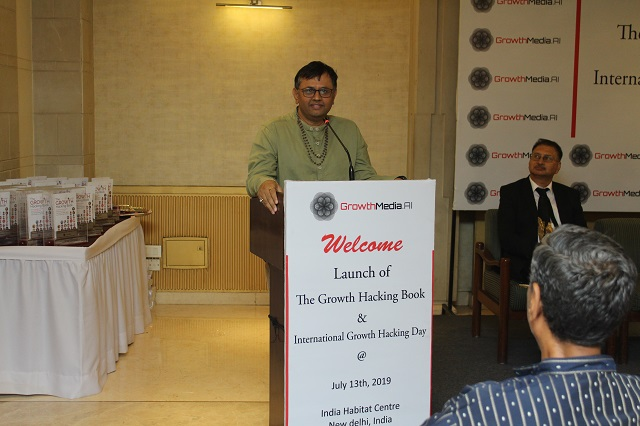 Dr. Unnat Pandit, Director, Niti Aayog at the Launch of Growth Hacking Book