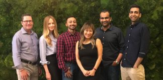 From left to right - Timothy Carey, Liz Snower, Amit Gupta, Audrey Wu, A...