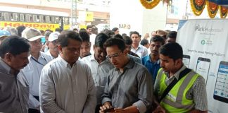 Hyderabad Metro Rail Ltd (HMRL) authority has inaugurated a smart parking project