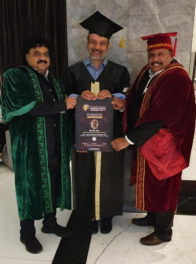 Dr. Huz Awarded 14th Honorary Doctorate by European Digital University in Dubai