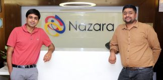 (L-R) Nitish Mittersain, Founder and MD, Nazara technologies Ltd. and Porush Jain, Founder, Sportskeeda.