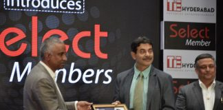 L-R , Suresh Reddy, TiE Hyderabad President, Mr. Jayesh Ranjan, Principal secretary, Phani Pattamatta, Executive Director TiE Hyderabad