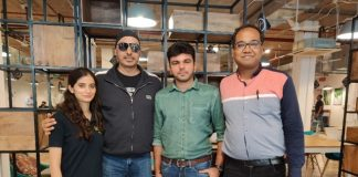 (L to R : Palak Kapoor (Co-Founder, LQI, Sukhbir Singh (angel Investor), Shubham Khanna (Founder, LQI) & Amit Singal (Co-founder, Startup Buddy)