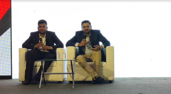 en:lyft Founder and Director Ajay Kudva (Right) and Influencer Management Head at en:lyft Stafford Fernandes addressing a press conference organised by Kapil Jain, Graphitto Labs