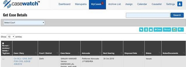 Casewatch™ from Manupatra: Time to get 'Real' with Court Cases