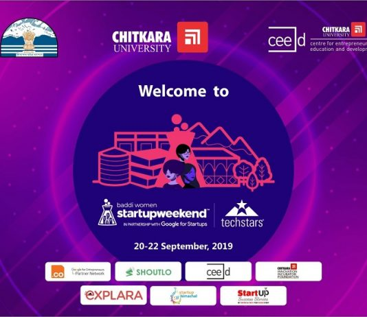 Chitkara University to Organise Startup Weekend Baddi on 20th-23rd September 2019