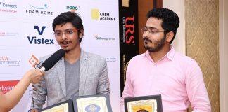 Healofy Founders Gaurav and Shubham with Awards