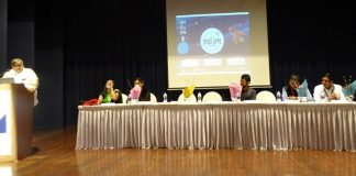 Judging Panelist along with Chief Guest Dr. Naveen Vashista, Scientist DST, Govt of India
